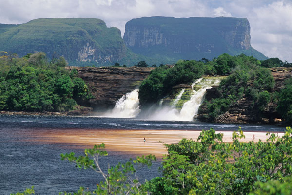 ADN8BB Hocha Falls near Angel Falls in Venezuela
